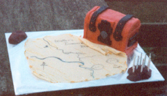 Treasure Chest and Map Cake - Walter's 10th