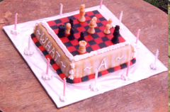 Chess Game Cake - Walter's 11th