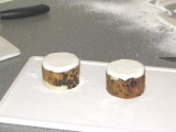 white sugarpaste on cakes for cups