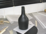 rest of black marzipan added