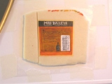 back label painted on marzipan
