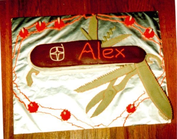 Swiss Army Penknife Cake - Alex's 8th