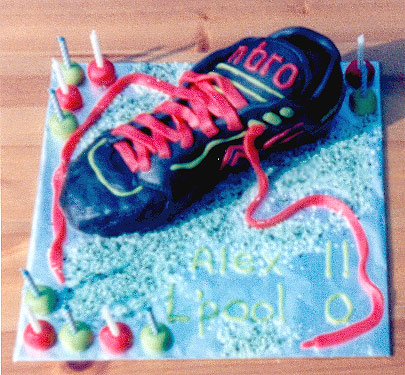 Soccer Boot Cake - Alex's 11th
