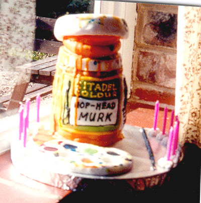 Warhammer Paint Pot Cake - Alex's 12th