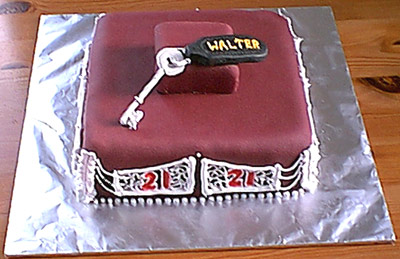 Key of the Door Cake - Walter's 21st