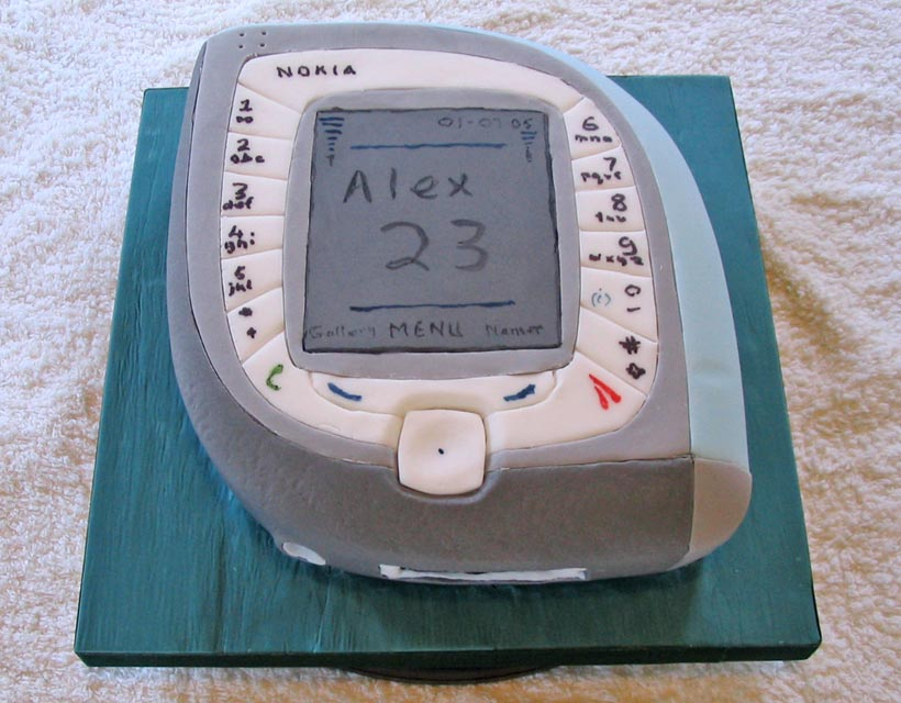 Nokia Mobile Phone Cake - Alex's 23rd