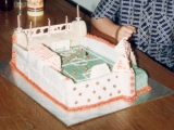 Alex United Football Stadium Cake - Alex's 5th