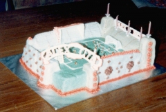 Alex United Football Stadium Cake - Alex's 5th