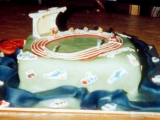 Athletics Stadium Cake - Walter's 9th