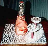 Champagne Cake - Janet's 43rd