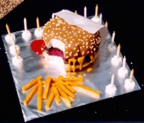 Burger and Chips Cake - Alex's 16th