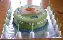 Dwango the Goose Cake - Alex's 18th birthday