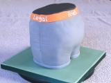 Alex's Legal Briefs Cake - Alex's 25th