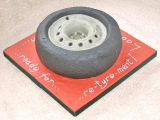(Ready For) Re-tyre-ment Cake - Janet's 60th