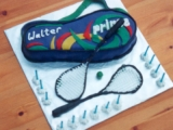 Squash Racquets and Bag Cake - Walter's 13th