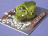 Alligator Money Box Cake - Alex's 21st