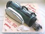 Golf Clubs Cake - Jill's 50th