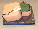 Ring and Box Cake - view 2 - Victoria's 26th