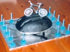 Cycle Helmet Cake - Walter's 14th