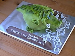 Alligator Money Box Cake - Alex's 21st