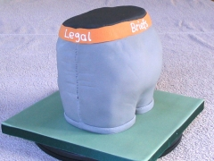 Alex's Legal Briefs Cake - Alex's 25th