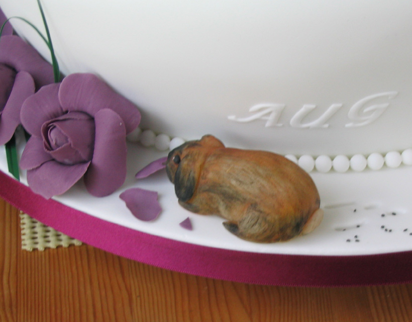 "Victoria and Walter's ""wonky"" wedding cake - rabbit"
