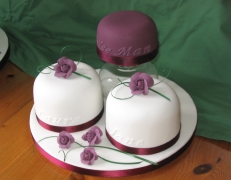 Victoria and Walter's Best Man's & Bridesmaids' cakes