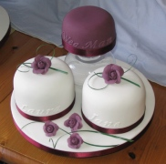 groom and bridesmaids' cakes