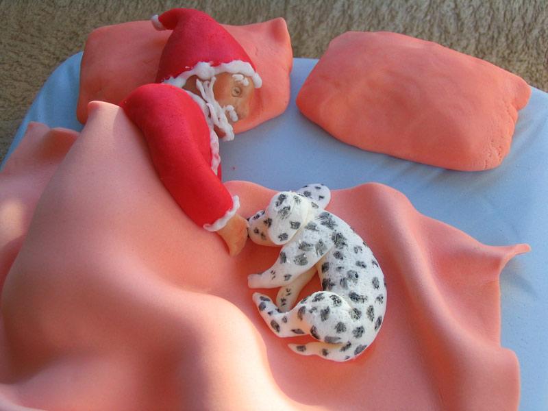 Xmas 2010 - Santa and Spotty Dog