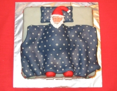 "Xmas 2003 - Santa Under his Duvet: ""ZZZ"""