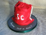 Xmas 2011 - Cake 2 - Santa's Sack